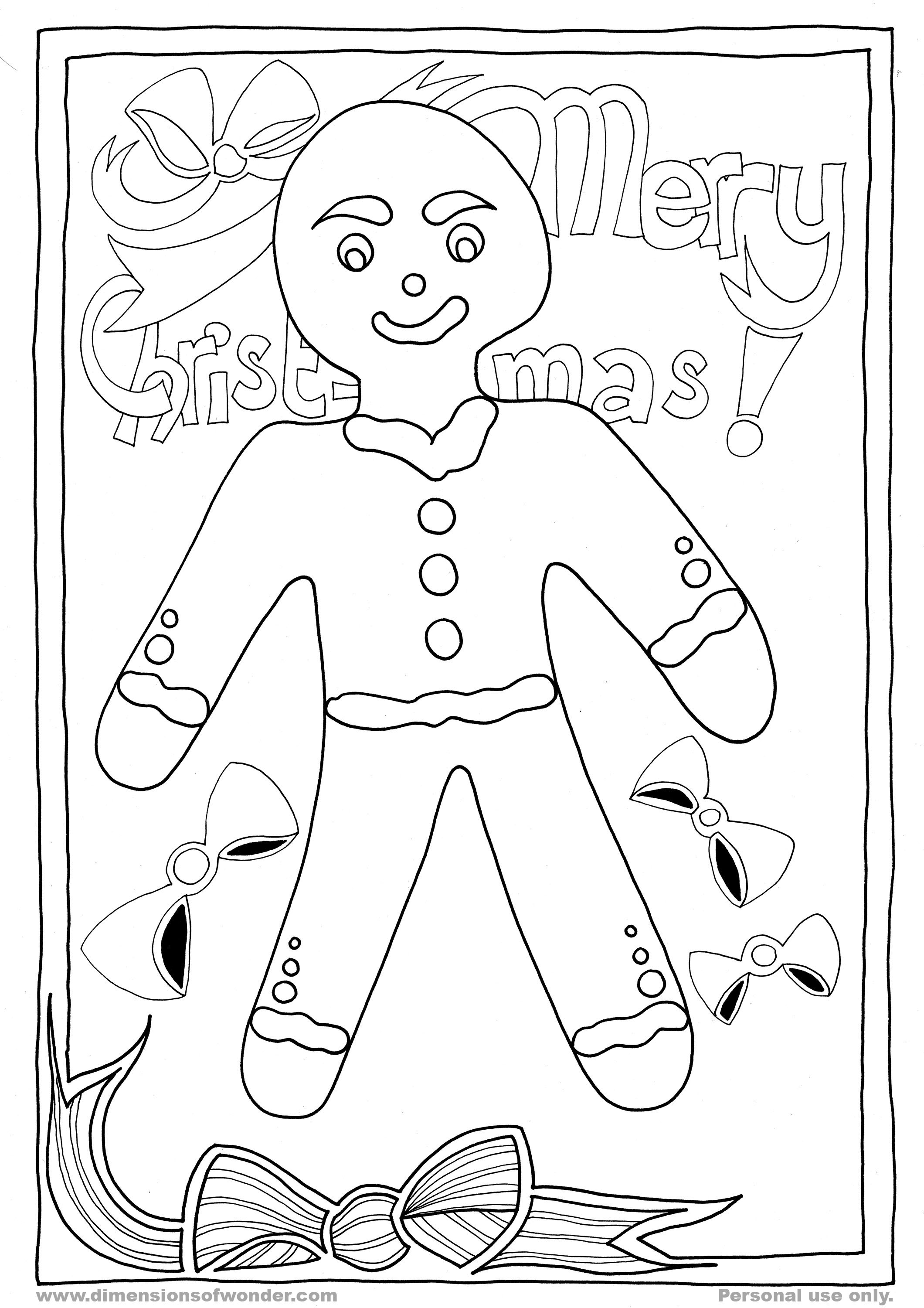 Free Gingerbread Man Fox Coloring Pages