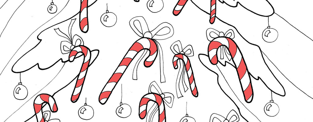 christmas coloring pages printables candy canes tree
