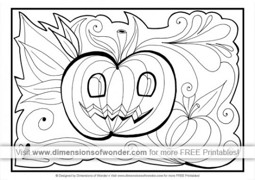 free printable halloween coloring pages 02