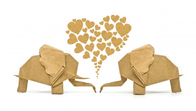 free printables recycled paper elephants