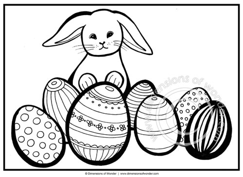 easter bunny coloring pages easter egg printable