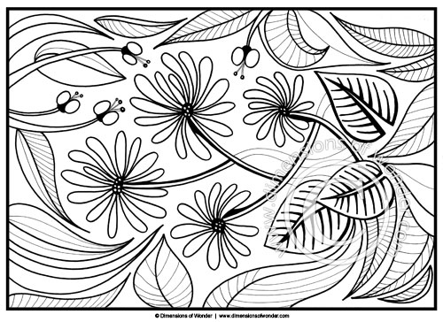 flower coloring page printable flowers coloring pages