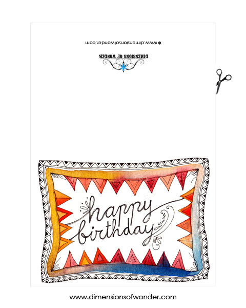 free printable birthday card size 8x10