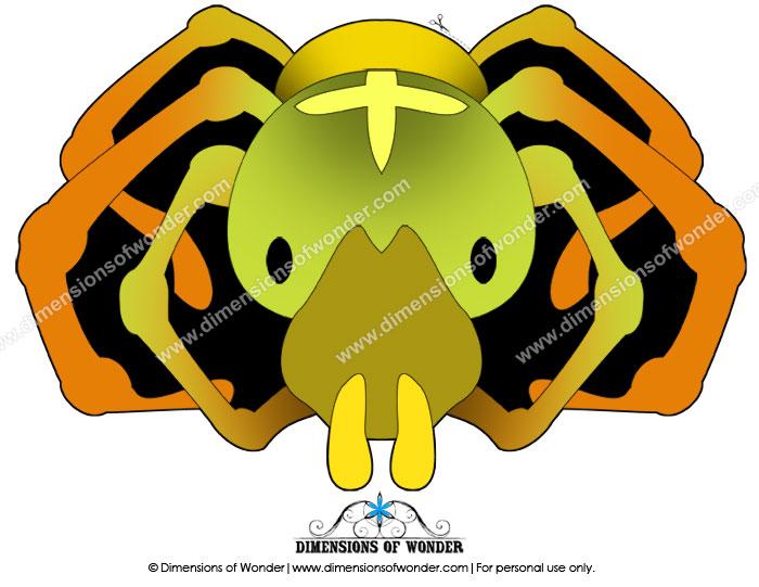 printable spider mask, printable Halloween mask, printable masks for kids, printable masks for children