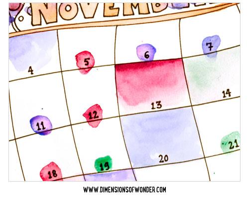 free printable monthly calendar november 2014, printable calendars hand drawn, detail