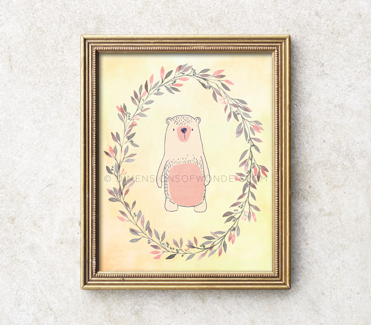 Printable nursery art little bear