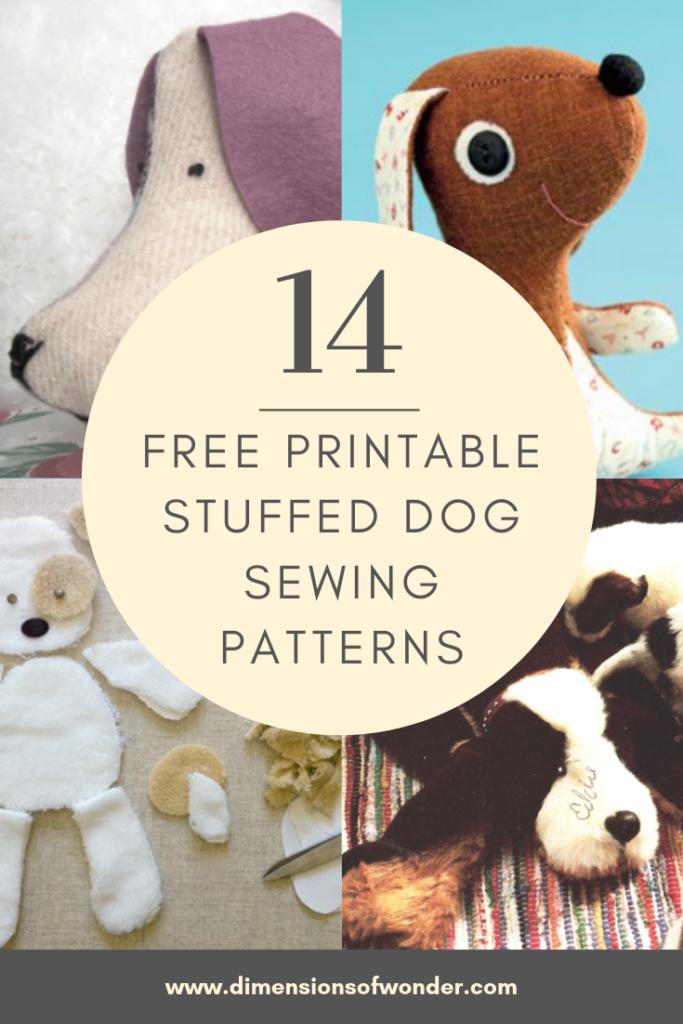 free printable dog sewing patterns