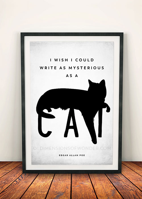 free printable wall decor inspirational cat quote
