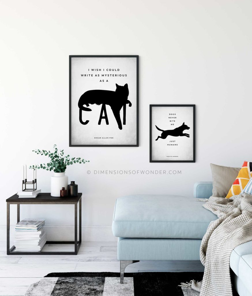 free printable wall art for dog and cat lovers