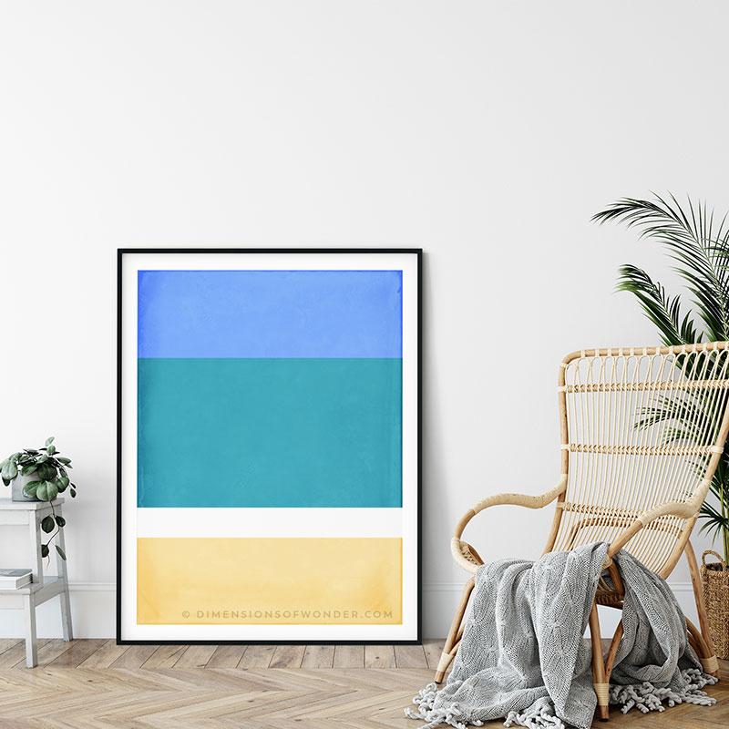 tropical beach modern abstract art