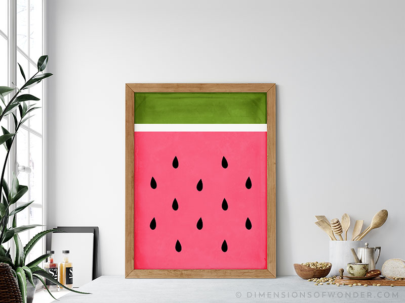 watermelon modern abstract design free printable art