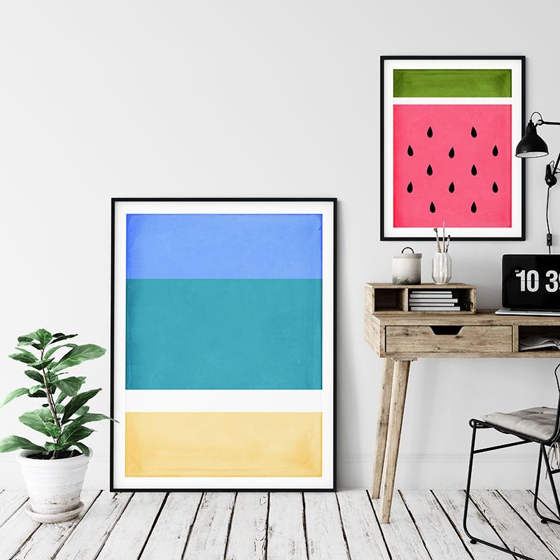 free printable summer wall art beach vibes