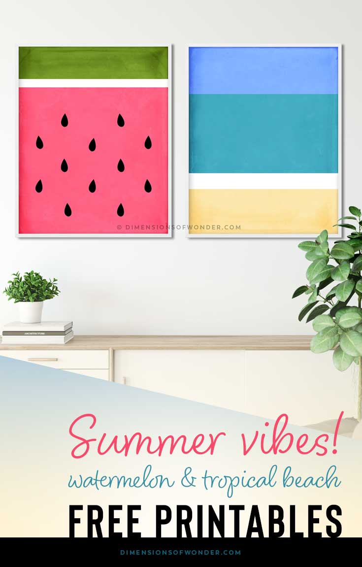 free summer themed wall art modern abstract designs