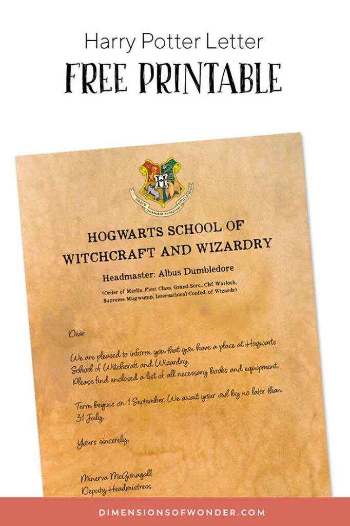 Harry Potter Letter 1a