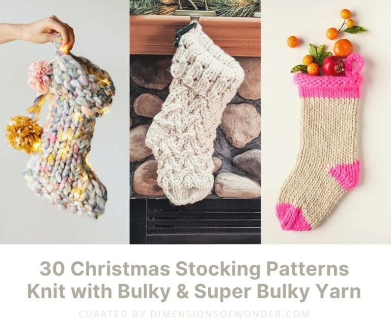 christmas stocking patterns knit in bulky yarn