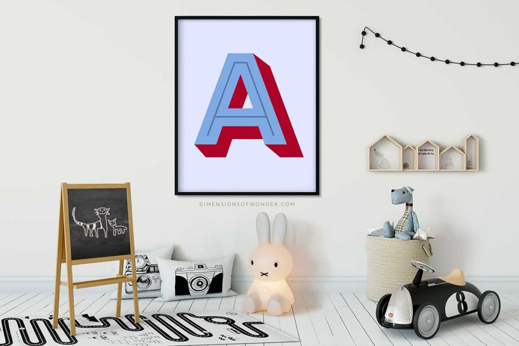 monogram-printables-font-rig-shaded-A-blue-red-1