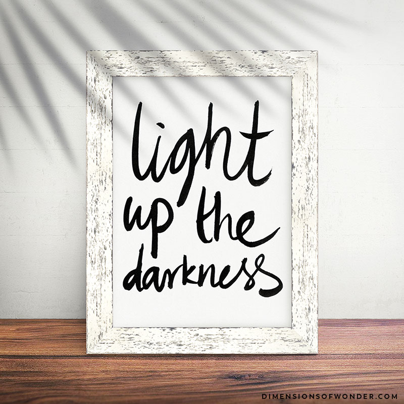 Light-up-the-Darkness-Printable-Typographic-Freehand-Art