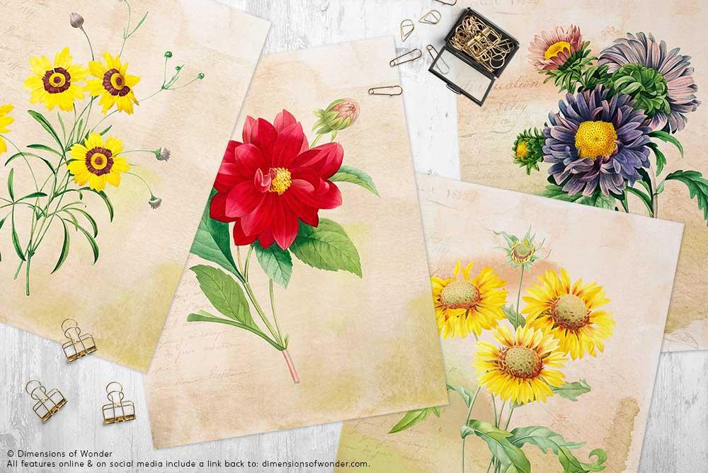 Free-printable-art-design-vintage-flowers