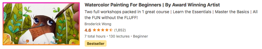 Watercolor Painting For Beginners By Award Winning Artist Broderick Wong