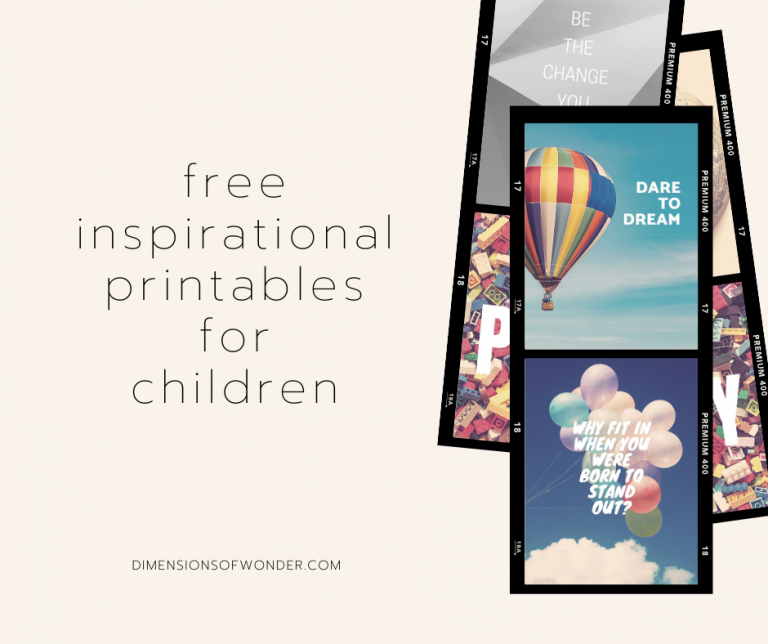 free printable inspirational quotes for children