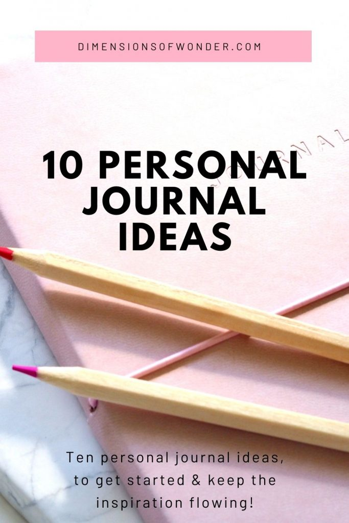 personal journal ideas to get started