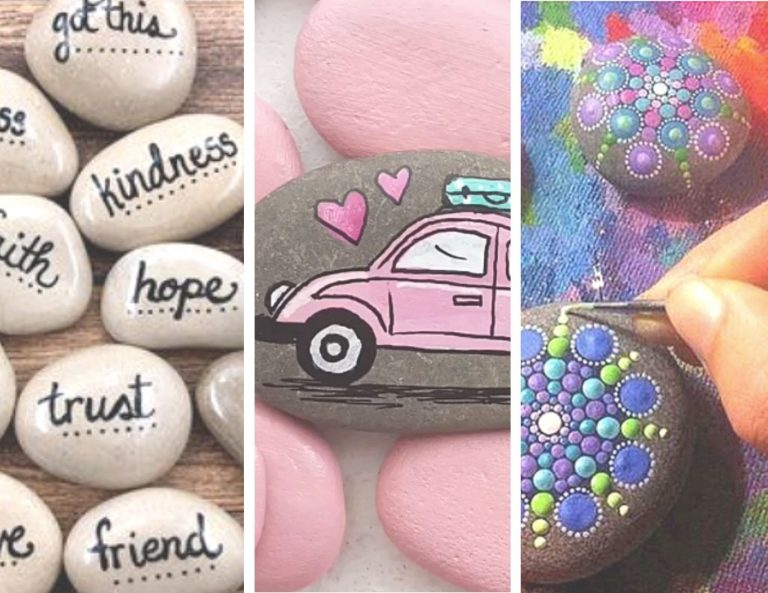 how to paint rocks materials ideas