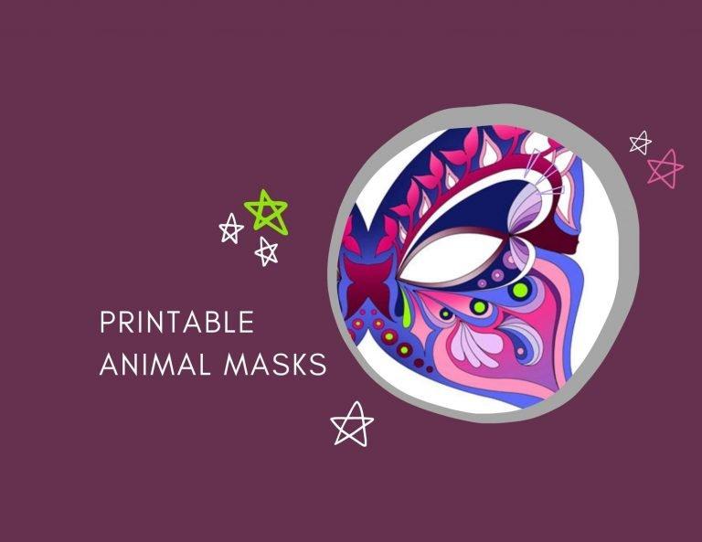 printable masks of animals 1