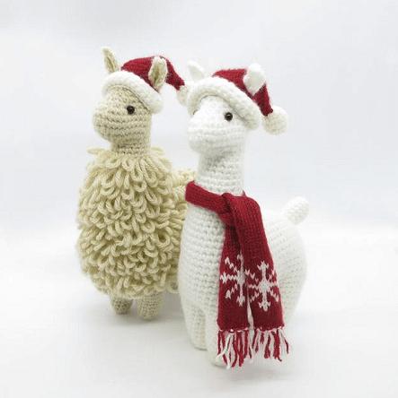 Christmas outfit llama crochet pattern