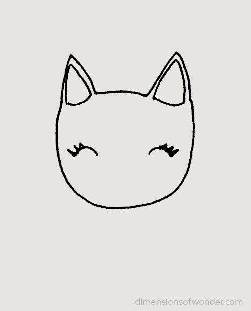 doodle striped kitty step 2