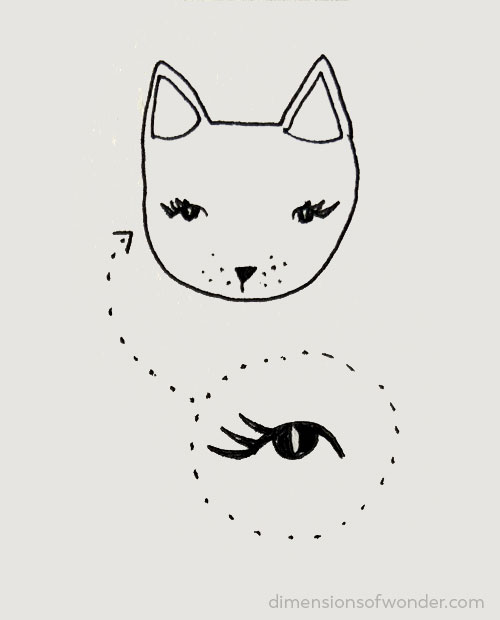 doodle striped kitty step 3