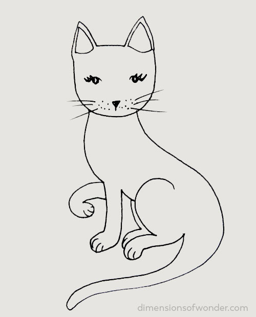 doodle striped kitty step 6